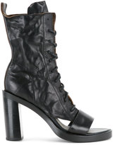 Ann Demeulemeester cut out heel boots - women - Leather - 36