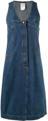 Chanel Pre Owned Midi Denim Dress
