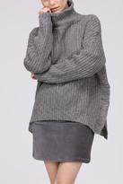 POL Mock Hi-Low Sweater