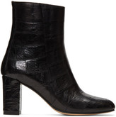 Maryam Nassir Zadeh Black Croc-embossed Agnes Boots