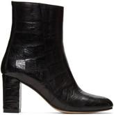 Maryam Nassir Zadeh Black Croc-embossed Agnes Boots