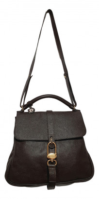 Delvaux Gin Fizz Brown Leather Handbags