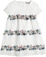 Ermanno Scervino Embroidered Cotton Muslin & Lace Dress