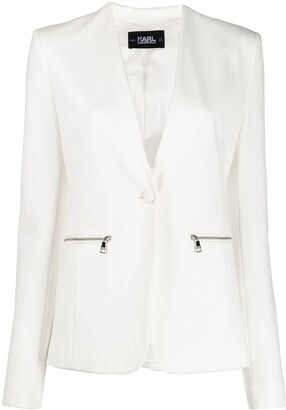 Karl Lagerfeld Paris Punto logo tape jacket