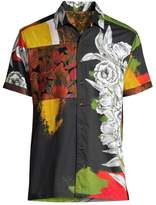 Robert Graham Floral Skull Sport Shirt