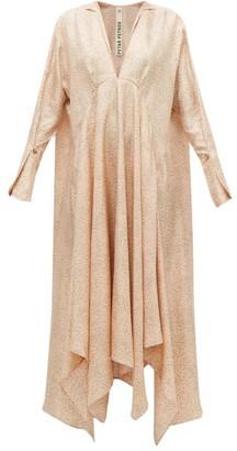 Petar Petrov Alex Tie-neck Polka-dot Silk Dress - Womens - Light Pink