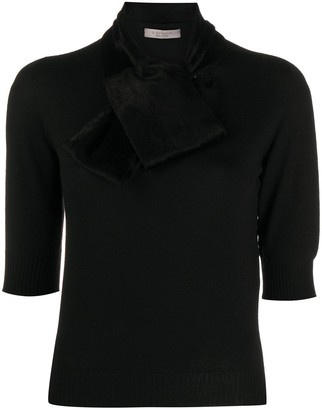 D-Exterior Wrap Neck Jumper