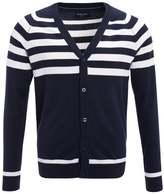 Pier One Cardigan Offwhite/dark Blue