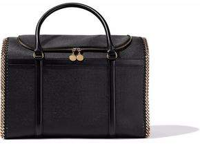 Stella McCartney Chain-Embellished Faux Pebbled-Leather Weekend Bag