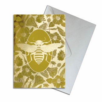 The Curious Department Elemental Bee Gold Greeting Cards Pack of 10
