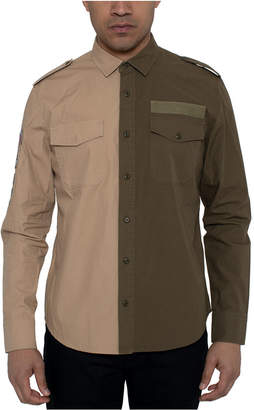 Sean John Men Two-Tone Twill Shirt