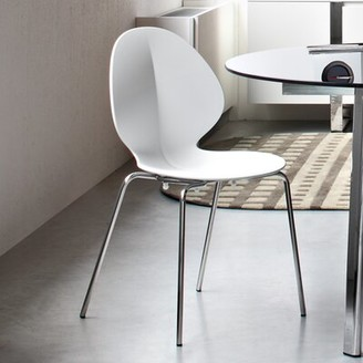 Calligaris Basil Armless Stackable Chair Frame Finish: Matte Optic White