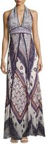 BA&SH Romane Halter Maxi Dress, Multi Pattern