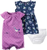 Carter's Baby Girl Floral Dress & Polka-Dot Sunsuit Set