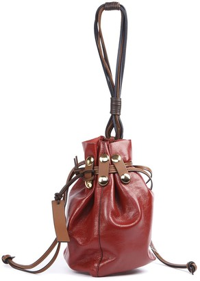 Marni Red Patent Leather Bucket Bag