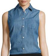 ST. JOHN'S BAY St. John's Bay Sleeveless Button-Front Shirt