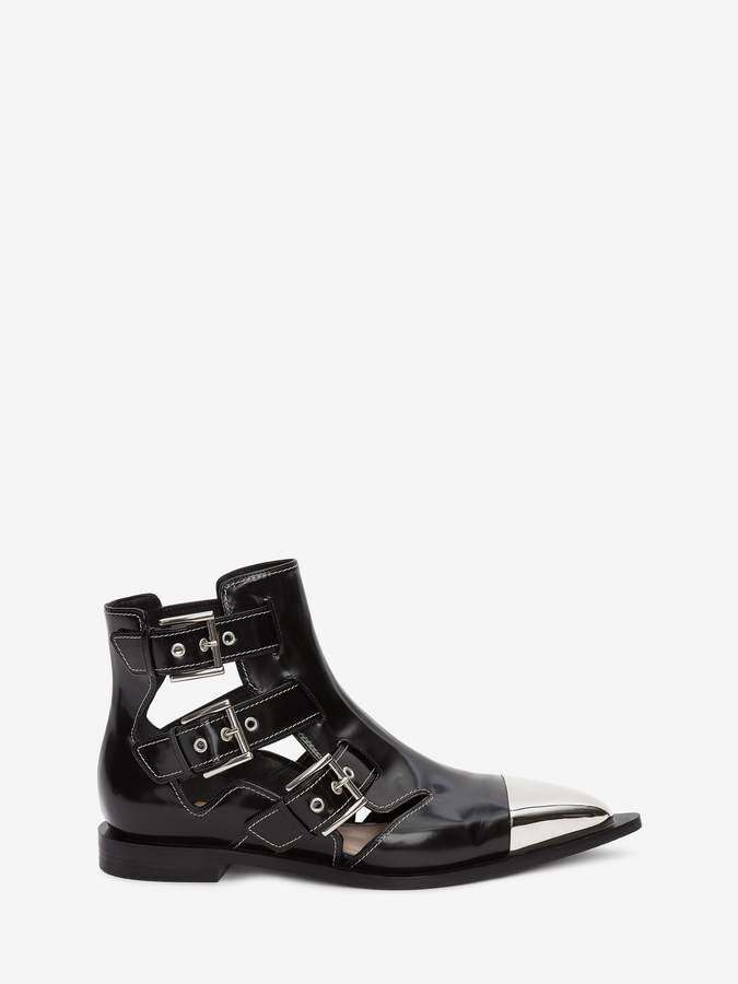 Alexander McQueen Cage Ankle Boot