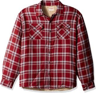 Wrangler Men's Big-Tall Authentics Big & Tall Long Sleeve Sherpa Lined Flannel Shirt