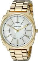 Nine West Women's NW/1734WMGB Swarovski Crystal Accented Gold-Tone Bracelet Watch