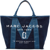 Marc Jacobs Blue Denim New Logo Tote