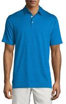 Peter Millar Short-Sleeve Pique Polo Shirt, Blue