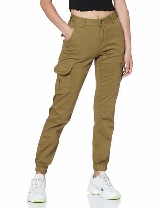 Urban Classics Women's Ladies Hose High Waist Cargo Pants Dress