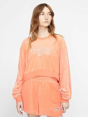 Nike NSW Retro Femme Sweatshirt - Orange