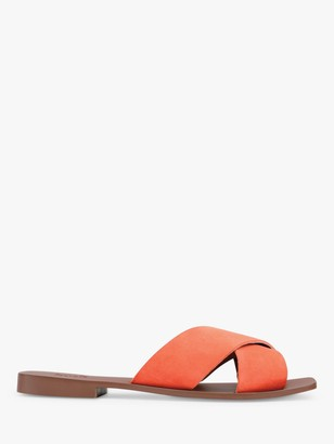 Hush Elgin Leather Cross Over Slider Sandals
