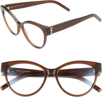 Saint Laurent 53mm Cat Eye Optical Glasses
