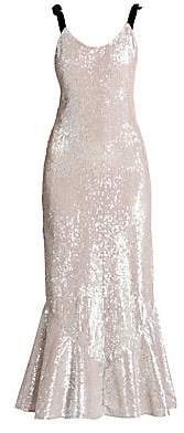 ATTICO Women's Sequin Flutter Maxi Slip Dress