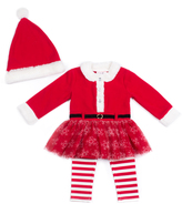 Little Lass Red Tulle-Accent Tunic Set - Infant