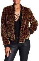 Bagatelle Leopard Faux Fur Bomber Jacket