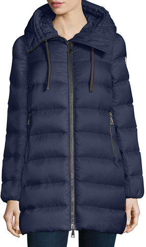 Moncler Suyen Lightweight Quilted Puffer Coat