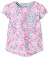 Peppa Pig Toddler Girls' Peppa Pigs Short Sleeve Rounded T-Shirt - Grey