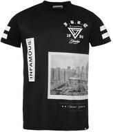 Fabric Mens City T Shirt Tee Top Cotton Print Short Sleeve Crew Neck Regular Fit