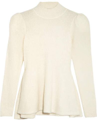 Co Cashmere-blend Bouclé Sweater - Ivory