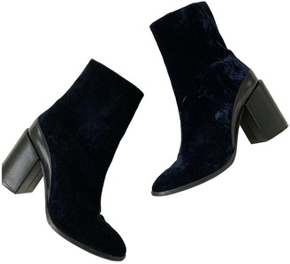 Dear Frances Blue Velvet Boots