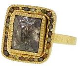 Todd Reed Octehedron Diamond Ring in Yellow Gold with Autumn Diamonds
