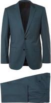 Hugo Boss - Blue Slim-fit Super 130s Virgin Wool Suit
