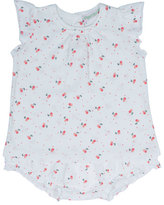 Bonpoint Sleeveless Jersey Cherry Top w/ Bloomers, White/Multicolor, Size 3-18 Months