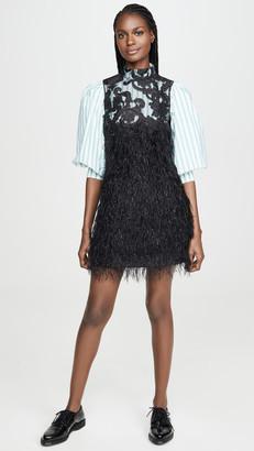 Ganni Feathery Cotton Dress