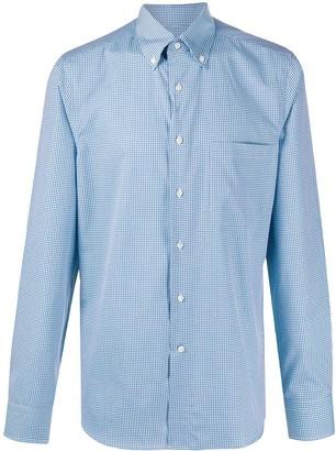 Canali Gingham Check Long-Sleeve Shirt