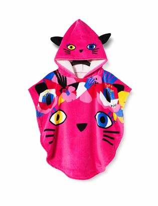 Tuc Tuc Pink Kitten Poncho For Girl Cat