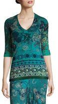 Fuzzi Batik Floral Print Top