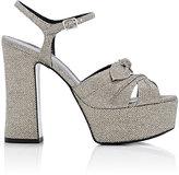 Saint Laurent Women's Candy Platform Sandals-SILVER, WHITE