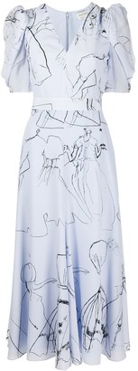 Alexander McQueen Dancing Girl midi dress
