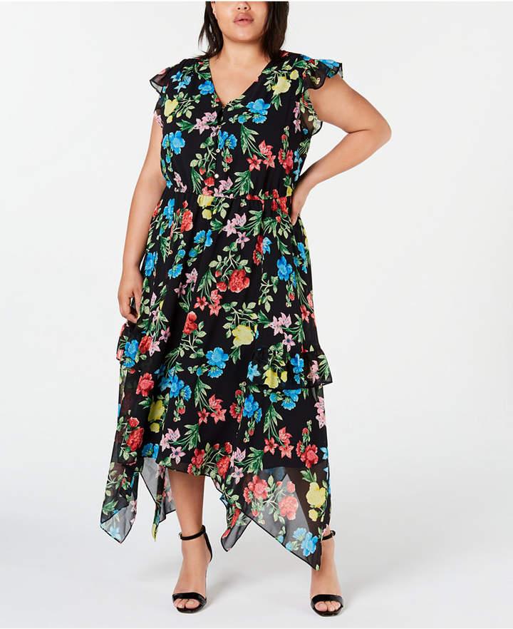 Plus Size Floral-Print Maxi Dress