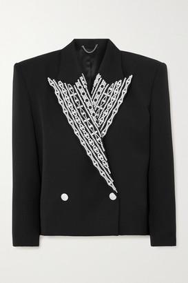 Magda Butrym Crystal-embellished Wool Blazer - Black