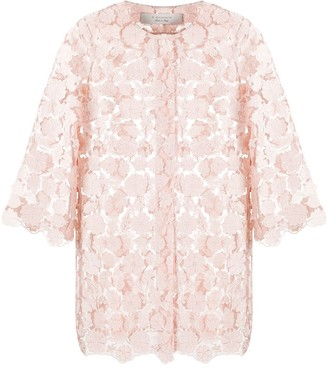 D-Exterior Floral Sheer Jacket