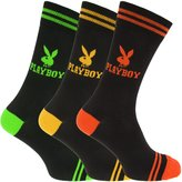 Playboy Official Mens Logo Design Cotton Rich Casual Socks (Pack Of 3)